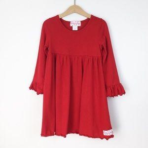 Ruffle Girl Red Ruffle Sleeve Dress Girls Size 7